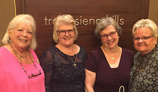 Pat Evans, Beth Mannle, Jane Madio, and Tracy Garner